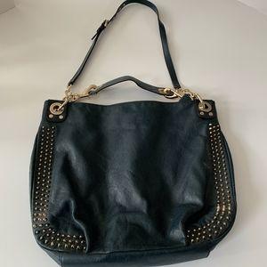 Rebecca Minkoff black leather bag with studs